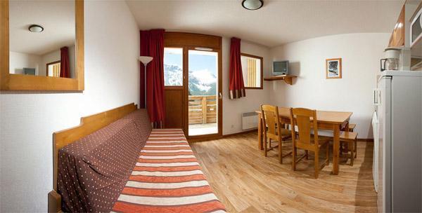 Location au ski Appartement 2 pièces coin montagne 4-6 personnes - Residence Le Pra Palier - Orcières 1850 - Coin séjour