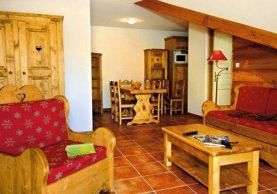 Location au ski Studio 4 personnes - Residence  Rochebrune - Orcières 1850 - Séjour