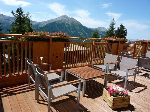 Location au ski Hotel Les Catrems - Orcières Merlette 1850 - Terrasse