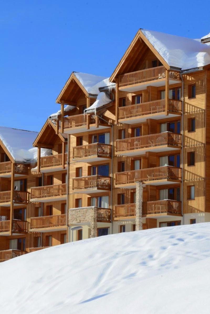 Wynajem na narty La Résidence Rochebrune - Orcières Merlette 1850 - Zima na zewnątrz