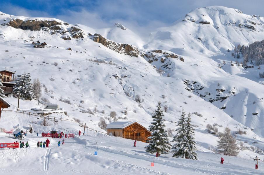 Location au ski Résidence les Cristallines - Orcières Merlette 1850 - Extérieur hiver