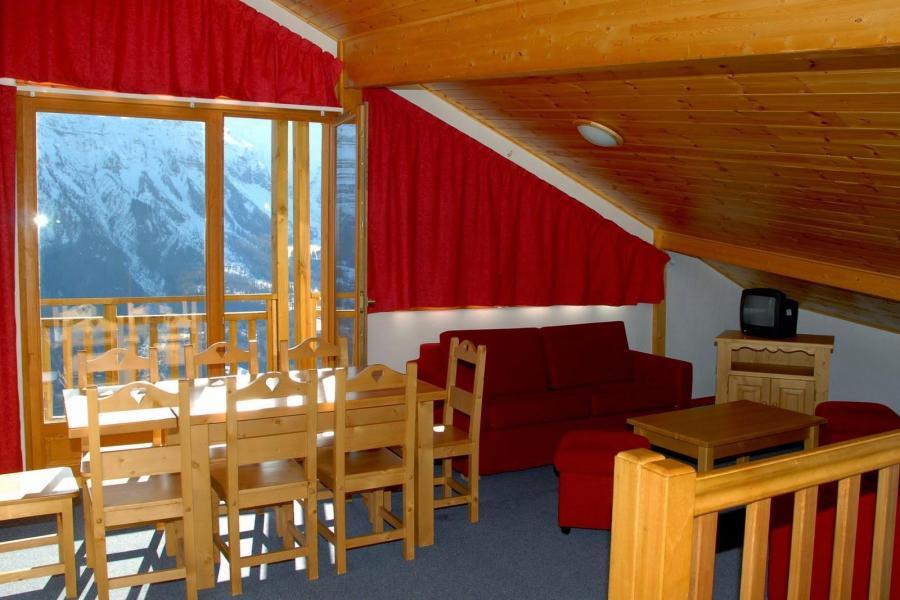 Location au ski Résidence les Terrasses de la Bergerie - Orcières Merlette 1850 - Coin séjour