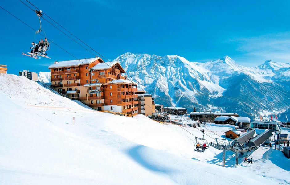 Location au ski Résidence Terrasses de la Bergerie - Orcières Merlette 1850 - Extérieur hiver