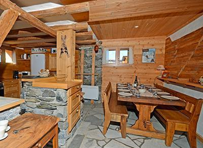 Location au ski Chalet duplex 5 pièces 12 personnes - Chalet Pierra Menta - Peisey-Vallandry - Séjour