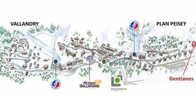Location au ski Studio 2 personnes (3409) - Residence Gentianes - Peisey-Vallandry