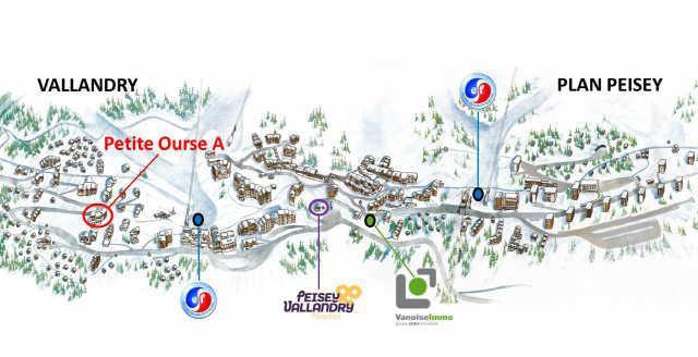 Location au ski Appartement duplex 3 pièces coin montagne 8 personnes (91) - Residence Petite Ourse - Peisey-Vallandry