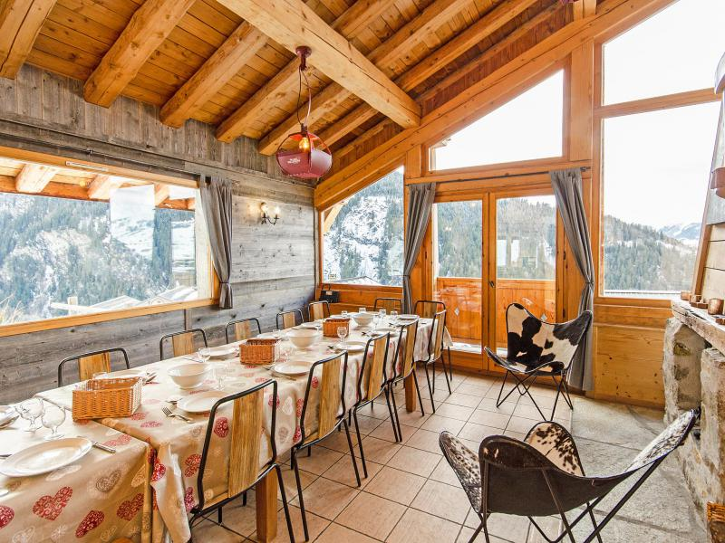 Rent in ski resort Chalet Balcon du Paradis - Peisey-Vallandry - Dining area