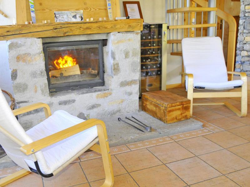 Ski verhuur Chalet Balcon du Paradis - Peisey-Vallandry - Open haard
