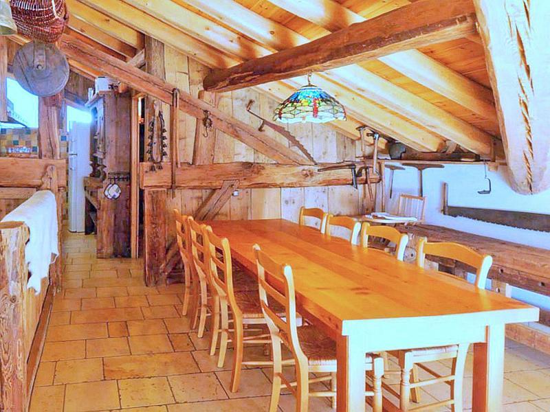 Location au ski Chalet Coeur du Paradis - Peisey-Vallandry - Salle à manger