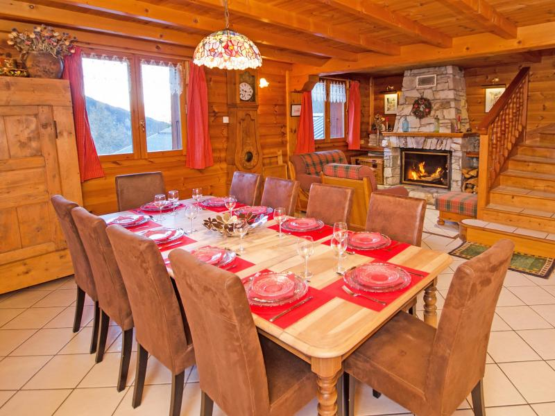 Location au ski Chalet d'Alfred - Peisey-Vallandry - Table