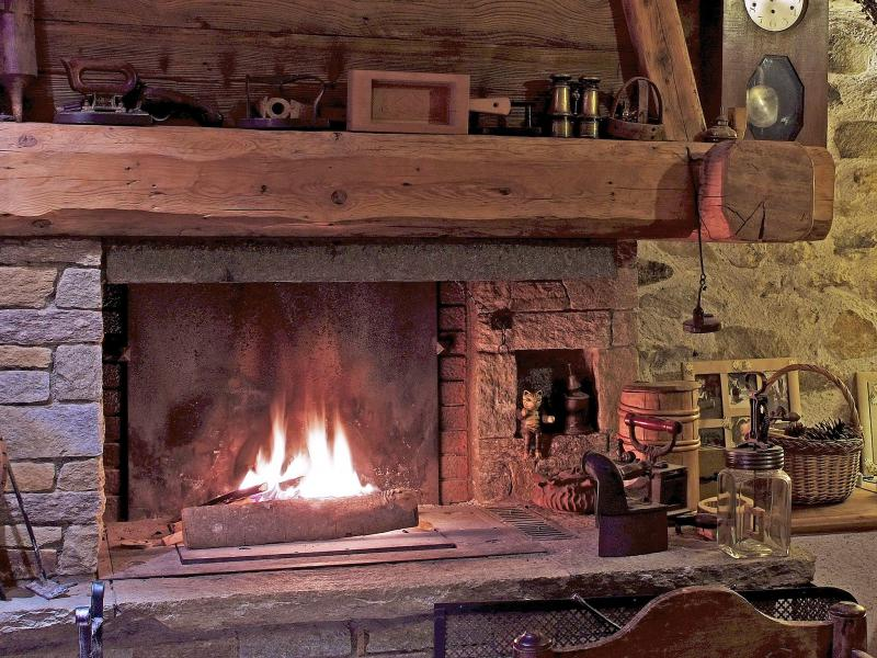 Ski verhuur Chalet de Claude - Peisey-Vallandry - Woonkamer