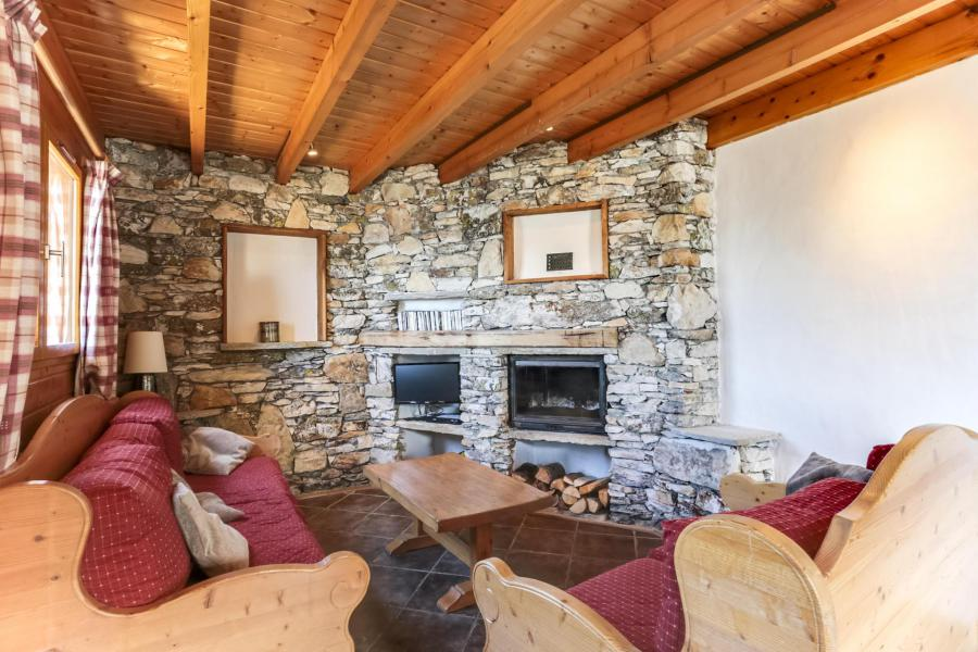 Skiverleih 6 Zimmer Chalet für 10 Personen - Chalet Forsythia - Peisey-Vallandry - Wohnzimmer