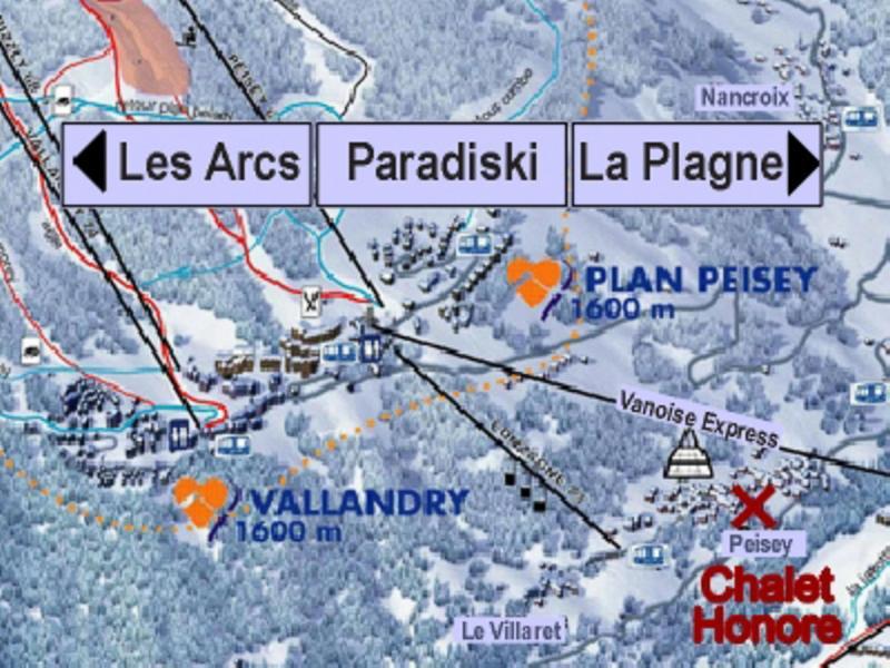 Location au ski Chalet Honoré - Peisey-Vallandry - Plan