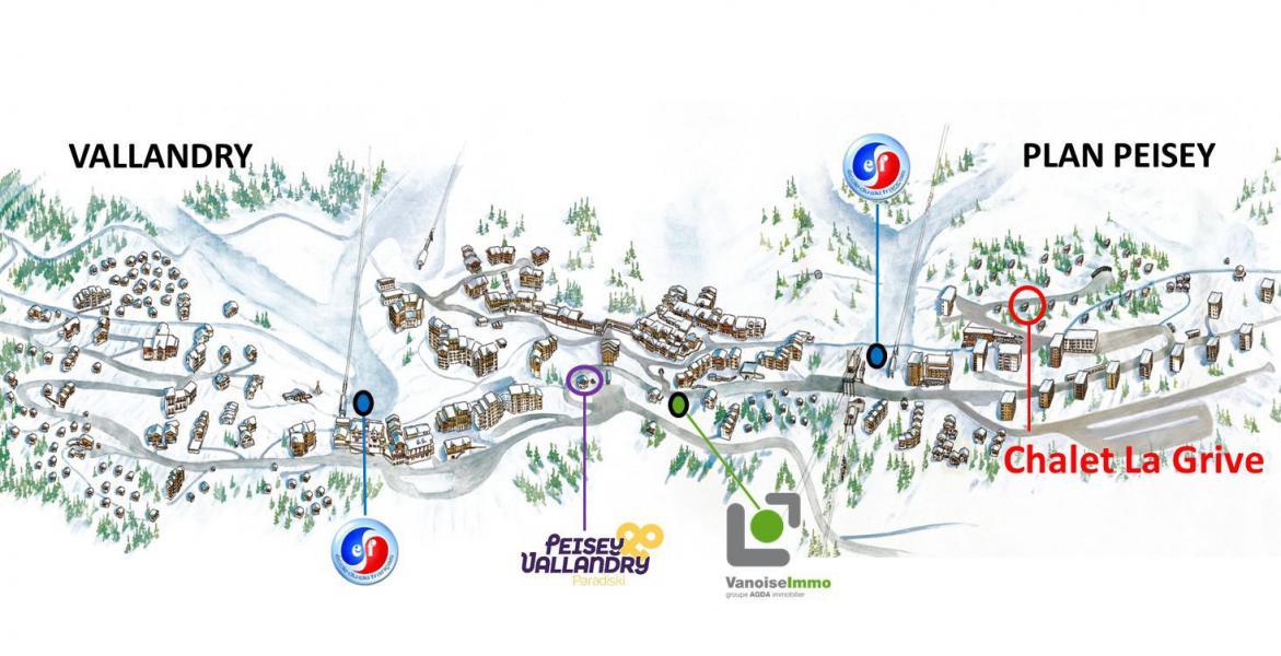Location au ski Chalet 6 pièces coin montagne 11 personnes (GRIVE) - Chalet la Grive - Peisey-Vallandry