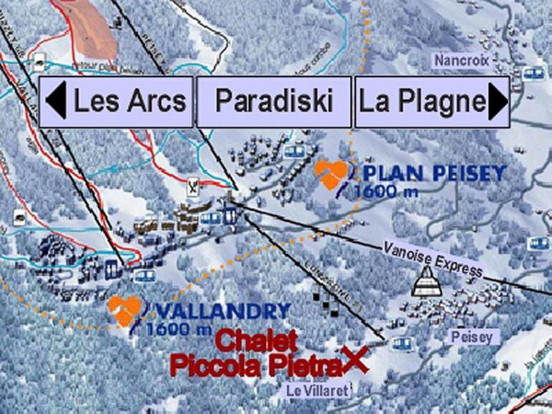 Location au ski Chalet Piccola Pietra - Peisey-Vallandry - Plan