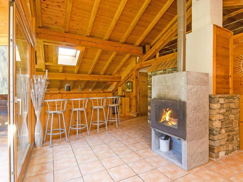 Location au ski Chalet Ulysse - Peisey-Vallandry - Cheminée