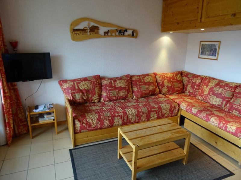 Skiverleih 3-Zimmer-Appartment für 6 Personen (03) - Résidence Castors - Peisey-Vallandry - Wohnzimmer