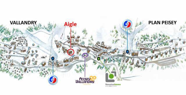 Location au ski Residence De L'aigle - Peisey-Vallandry