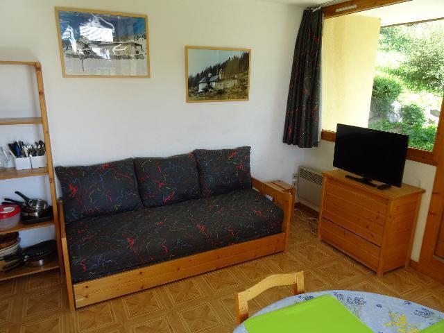 Location au ski Studio cabine 4 personnes (AIG005R) - Résidence l'Aigle - Peisey-Vallandry - Canapé-gigogne