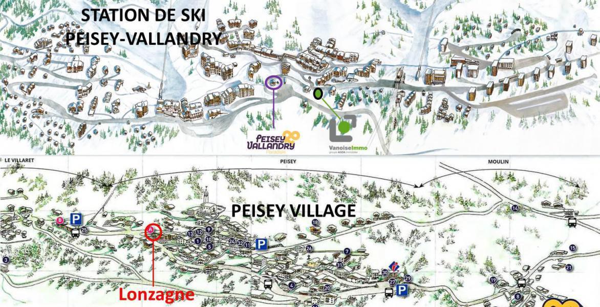 Wynajem na narty Apartament 2 pokojowy 5 osób (V0310) - Résidence la Lonzagne - Peisey-Vallandry - Plan