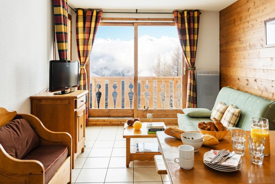 Location au ski Residence Lagrange L'arollaie - Peisey-Vallandry - Coin repas
