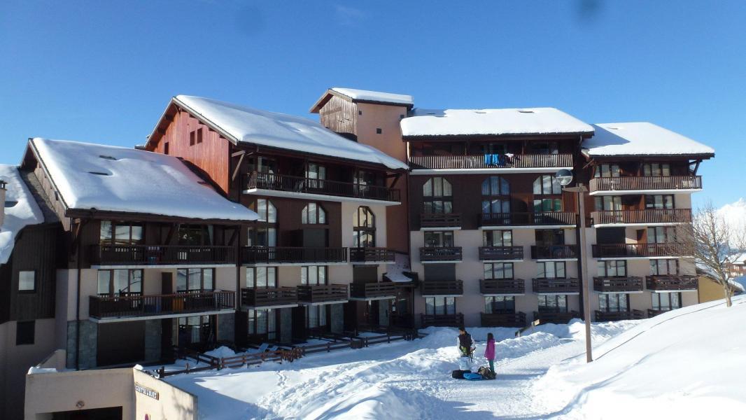 Location au ski Résidence le Crêt de l'Ours 1 - Peisey-Vallandry - Extérieur hiver
