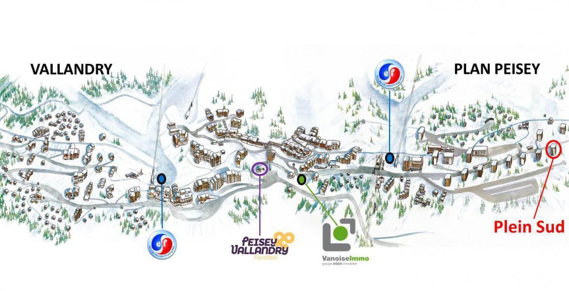 Location au ski Studio 4 personnes (5046) - Résidence le Plein Sud - Peisey-Vallandry