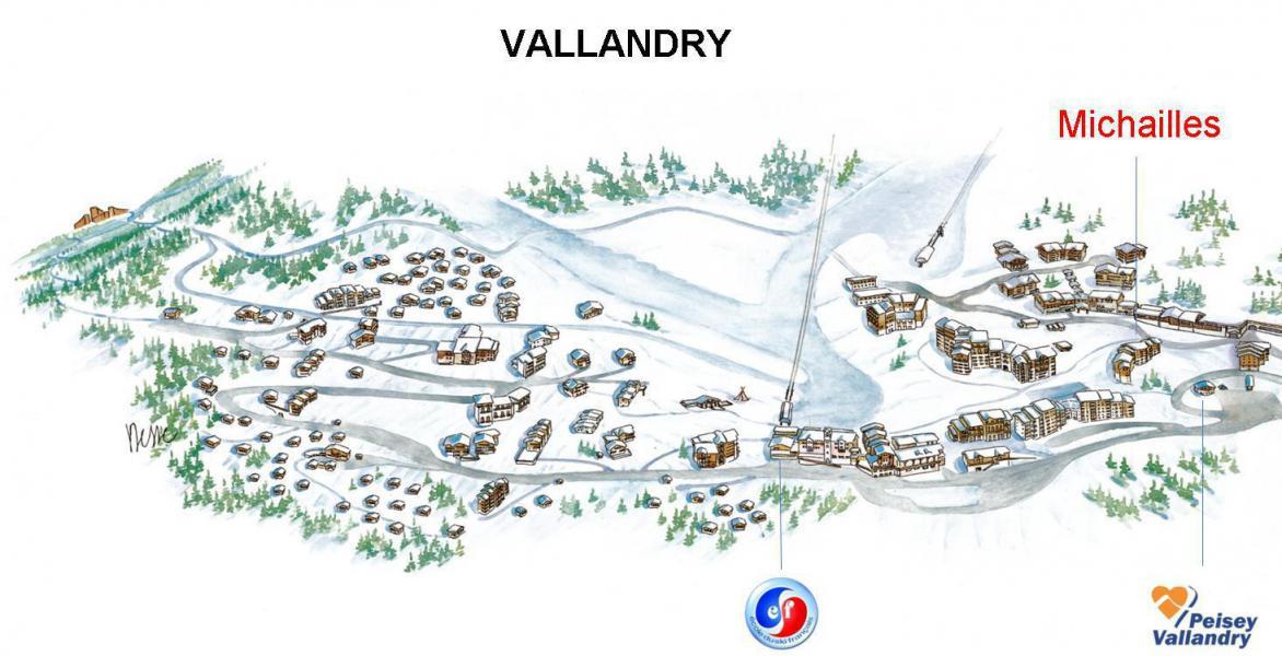Аренда на лыжном курорте Квартира студия кабина для 4 чел. (39306) - Résidence les Michailles - Peisey-Vallandry