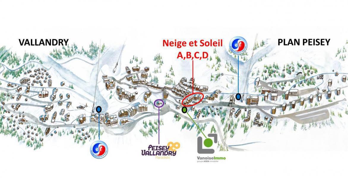 Rent in ski resort 2 room apartment sleeping corner 6 people (4403) - Résidence Neige et Soleil D - Peisey-Vallandry - Plan