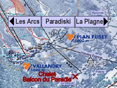 Location au ski Chalet Balcon du Paradis - Peisey-Vallandry - Plan