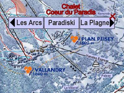 Location au ski Chalet Coeur du Paradis - Peisey-Vallandry - Plan