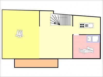 Location au ski Chalet duplex 5 pièces 8 personnes - Chalet Coeur Du Paradis - Peisey-Vallandry - Plan