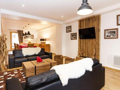 Rent in ski resort Chalet Esprit du Paradis - Peisey-Vallandry - Living room