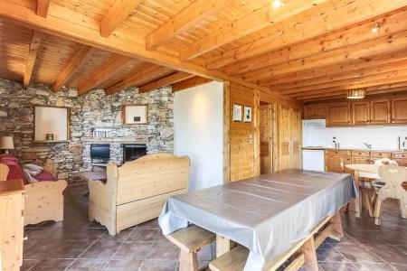 Location au ski Chalet 6 pièces 10 personnes - Chalet Forsythia - Peisey-Vallandry - Cheminée