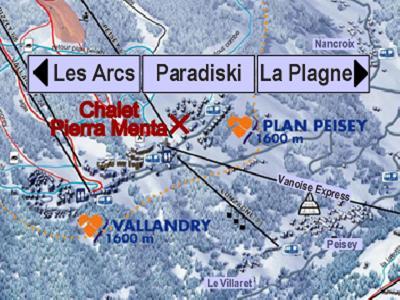Location au ski Chalet Pierra Menta - Peisey-Vallandry - Plan