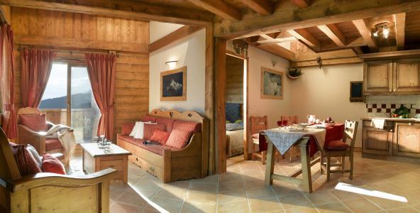 Rent in ski resort L'Orée des Cimes - Peisey-Vallandry - Living room