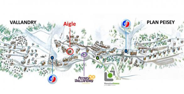 Аренда на лыжном курорте Résidence de l'Aigle - Peisey-Vallandry