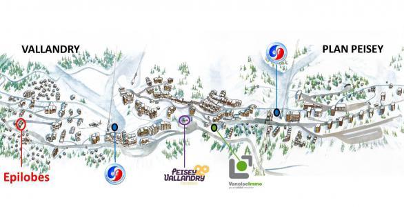 Аренда на лыжном курорте Résidence Epilobes - Peisey-Vallandry - план