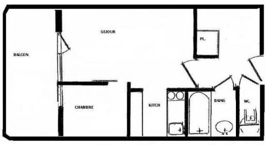 Location au ski Studio 4 personnes (022) - Residence Grande Ourse - Peisey-Vallandry