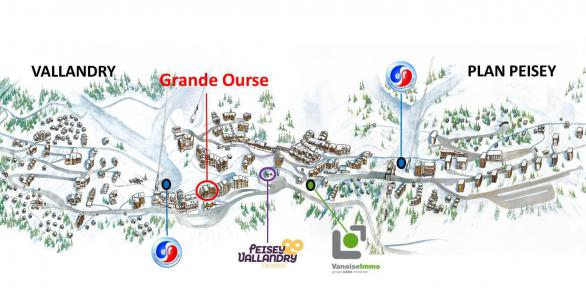 Rent in ski resort Résidence la Grande Ourse - Peisey-Vallandry - Plan