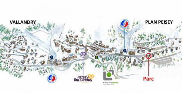 Location au ski Residence Le Parc - Peisey-Vallandry