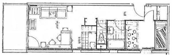 Location au ski Appartement 2 pièces 6 personnes (057) - Residence Le Rey - Peisey-Vallandry - Plan