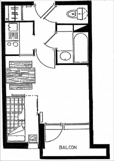 Location au ski Studio cabine 3 personnes (617) - Residence Michailles - Peisey-Vallandry - Plan