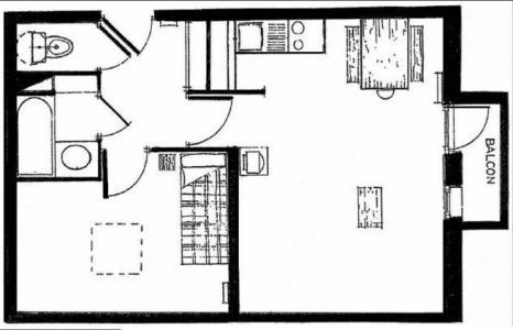 Location au ski Appartement 2 pièces 5 personnes (618) - Résidence Michailles - Peisey-Vallandry - Plan