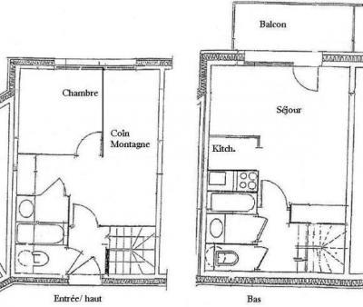 Location au ski Appartement 2 pièces coin montagne 7 personnes - Résidence Petite Ourse A - Peisey-Vallandry - Plan