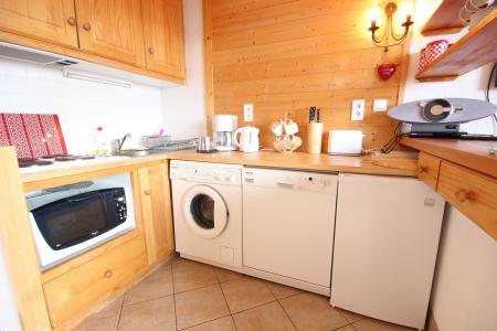 Location au ski Appartement 3 pièces cabine 7 personnes - Résidence Petite Ourse A - Peisey-Vallandry - Cuisine