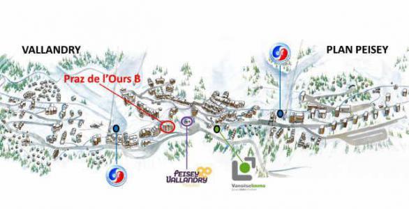 Location au ski Appartement 2 pièces 4 personnes (98) - Residence Praz De L'ours B - Peisey-Vallandry