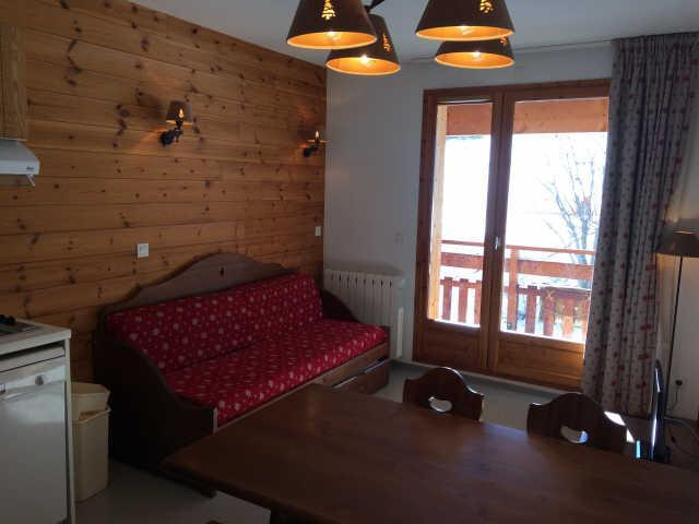 Rent in ski resort 2 room apartment sleeping corner 6 people (466) - La Résidence le Palatin - Pelvoux - Living room