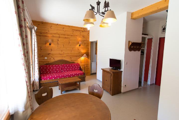 Rent in ski resort Studio cabin 4 people (497) - La Residence Le Palatin - Pelvoux - Living room