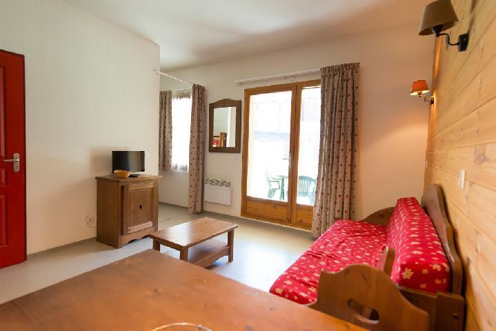 Rent in ski resort Studio sleeping corner 4 people (442) - La Residence Le Palatin - Pelvoux - Living room